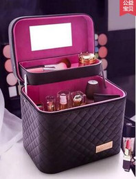 Caja de cepillo de maquillaje Maquillaje Organizador Bolsa de aseo Bolsa de almacenamiento de cosméticos Cajas de herramientas de arte de uñas grandes con Bolso portátil desde fabricantes