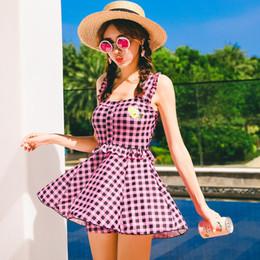 Una pieza de traje de baño correa online-Las mujeres de una sola pieza acolchadas traje de baño correa del halter traje de baño Tankinis Set traje de baño moda traje de baño informal