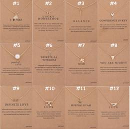 Geschenke für familien online-136 Designs Dogeared Schmuck Halsketten mit Karte Gold Silber überzogene Anhänger Halskette Kleines Geschenk für Freunde Familien Promotion Geschenk