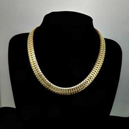 Wholesale Dj Jewelry - Dad Chokers Necklace Father's Day Gift Herringbone Chain Golden Necklace Rapper Chunky Chain Boys Rapper Nightclub DJ Jewelry