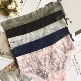 calcinha cruz Desconto Mulheres Sexy Lace Underwears 5 Cores Ver Através Calcinhas Cruz Elástica Wasit Calcinhas Sólidas Tamanho Livre Feminino Briefs