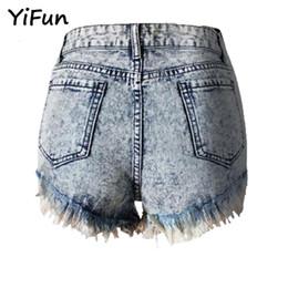 Wholesale High Waisted Denim Shorts Fashion - YiFun 2018 Summer New Fashion Women Casual High Waisted Short Mini Ripped Jeans Casual Womens Skinny Denim Shorts Big Size S-XL