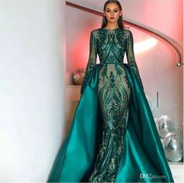 2019 vestiti convenzionali di sequin verde scuro 2018 Ultimi Incredibili  Abiti da sera con paillettes Pizzo 369bbc56f2d