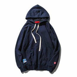 Wholesale Comfortable Cotton Hoodies - Wholesale-Hot Spring Autumn Boy Male Thin Comfortable Casual Solid Color Men Brand New Clothing High Quality Cotton Fit Hiphop Hoodies