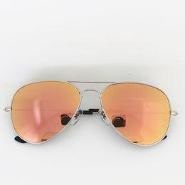 Wholesale G15 Lens - brand new classic fashion G15 glass lens sun glasses women vassl uv400 men bright silver metal frame 58mm pink mirror sunglasses with box