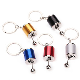 Wholesale ladies keyrings - 5 Colors New Personality Creative Cars Keychain Ladies Bags Pendant Keyring Gifts Accessories Key Ring Support FBA Drop Shipping G683R