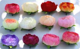 25pcs diy fiori artificiali di peonia di seta teste di fiori decorazione della festa nuziale forniture finte testa di fiore decorazioni per la casa da all'ingrosso pesci falsi pesci fornitori