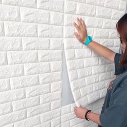 papel de parede preto de ouro Desconto Papel de parede 3D autoadhesivas creativo TV fondo de espuma pared ladrillo papel tapiz decorativo impermeable