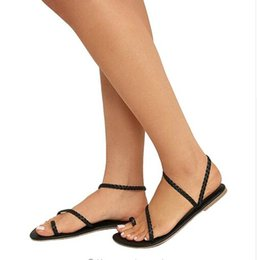249c4d0b82a61 2018 Women Shoes Summer Sexy Sandals Ladies Strappy Gladiator Low Flat Heel  Flip Flops Beach Sandals Shoes Female
