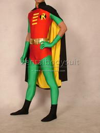 2019 costume de super héros Robin Tim Drake Version Costume Spandex Super-héros Halloween Costume Partie Costume Zentai costume de super héros pas cher