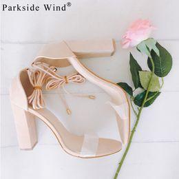 Wholesale Trendy Rubber Sandals - Parkside Wind Trendy Sexy Women Super High Heels Sandals Plus Size 34-43 PU Party Shoes Four Colors Open Lace-Up -5