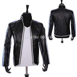 Wholesale Best Leather Jackets - Wholesale- Rare PUNK Rock Motorcycle Casual Classic MJ MICHAEL JACKSON Costume Heal The World Jacket For Fans Best Gift
