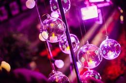 2019 candelabri di nozze bianchi 30 Pz / lotto Trasparente Acrilico Vaso a sfera Ciotola Hanging Air Plant Terrari in plastica Candela contenitore Home Wedding Party Decorazione natalizia