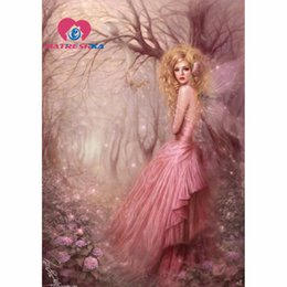 Wholesale Needlework Pictures - wholesale Diamond embroidery fairy diy 5d diamond painting Pictures crystals diamond mosaic sale pictures rhinestones Hobby needlework