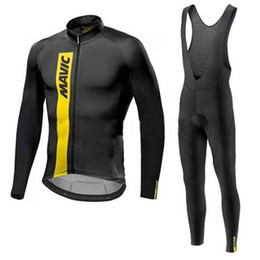Wholesale Cycling Long Pants Jerseys - Cycling Jerseys Mavic 2017 Thin Long Sleeves Cycling Set Ropa Ciclismo Bike MTB Clothing Pants Sport Clothes Suit 9D Gel Pad