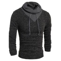 179c0964b2d Sweater Pullover Men 2018 Male Brand Casual Slim Sweaters Men Soild Color  Hedging Turtleneck Men S Sweater XXL Y66 C18111501