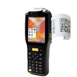 Terminal móvel do andróide industrial do pda com terminal Handheld dos dados da impressora térmica com o sensor do laser 1d de