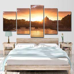 2019 pinturas religiosas Lienzo HD Imprime Fotos Wall Art Poster 5 Unidades de Estilo Barroco Religioso Edificio Pinturas Salón Decoración Del Hogar pinturas religiosas baratos