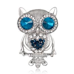2018 Mode Eule Zweig Vogel Broschen für Frauen Männer Hochzeit Bouquet Schal Pins Brosche Kostüm Silber Farbe Schmuck von Fabrikanten