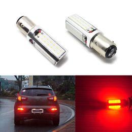 Wholesale 3157 Led Tail Light Bulb - Car Lights Headlight Bulbs 2pcs 3157 1157 Pure Bright Red COB LED Brake Stop Tail Light 20W Car Hi-Power Bulb 12V