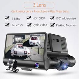 4 '' 1080P HD 170 ° 3 Автомобильный видеорегистратор Dash Cam G-sensor Recorder + Камера заднего вида Бесплатная доставка