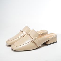 Sommer 2018 neue dicke Ferse Baotou Drag Han-Version der Mode ohne Absätze von Lazybones Muller Schuhe Frau von Fabrikanten