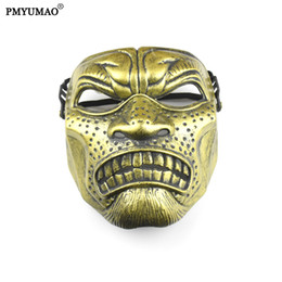 Wholesale Party Stores - High Quality Spray Paint Craft Bronze Party Masks Spartan Cosplay Mask Halloween Mask 5pcs lot Wholesale store