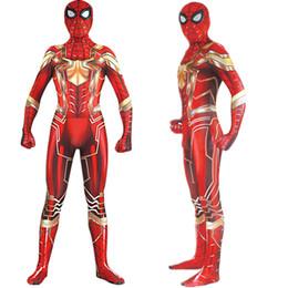 Costume cosplay Spiderman Zentai Glod Red Iron Spider Man Tuta da supereroe tuta tuta da collant nero floreale pizzo fornitori