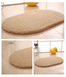 Wholesale oval carpets - Memory cotton bedroom carpet Foot pad oval Blanket Waterproof Floor Sticker Anti-slip Wear-resistant Bathroom Mats Fashion Home Decoration