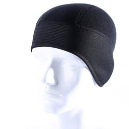 Wholesale Wholesale Winter Earmuffs - Winter Fleece Warm Protection Ear Hats Windproof Balaclava Bicycle Helmet Liner Beanies Cap Skullies Earmuffs Black