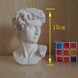 2019 regalos románticos bola de cristal Promoción de alta calidad mini estatua de david unos 15 cm adornos avatar europeo arte enseñanza herramienta regalo de cumpleaños T223