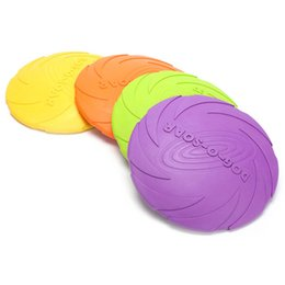 Wholesale Dog Frisbee Toys - Outdoor Soft Eco-friendly Silicone Rubber Dog Frisbee Pet Tooth Resistant Fetch Toys Dogs Training Flying Disc Playing Toy Int