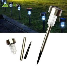 luci da giardino esterne del percorso solare Sconti 5pcs luci solari del prato LED, luci del giardino impermeabili illuminazione del paesaggio, lampada di via per l'iarda, piante del fiore, corridoio esterno