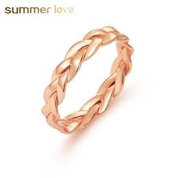 gold ringe besten design Rabatt Retro Wicklung Twist Ring für Frauen kreatives Design geschlossen Gold Silber Farbe Ehering eleganter Schmuck bester Verkauf