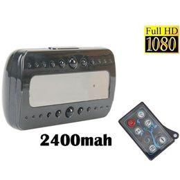 Caméra v26 en Ligne-V26 Télécommande Horloge Caméra Full HD 1080 P Noir Perle RF Vision Nocturne Alarme Horloge Détection de Mouvement Horloge Caméra de sécurité à domicile DVR