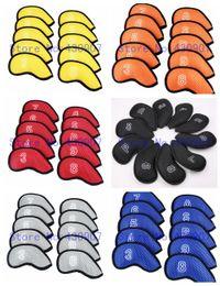 ferrules en bois Promotion 10 pcs golf couverture de fer Proctive Couvre avec numéro de fer club couverture de la tête 3-9 P A S
