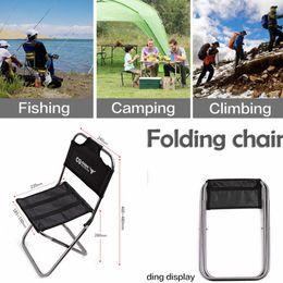 Air bbq en Ligne-Portable en aluminium chaise pliante en plein air siège de pêche camping pique-nique escalade BBQ siège outil de peinture de pêche FFA437 5PCS
