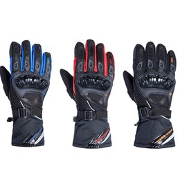Мотоциклетные байкерские перчатки онлайн-Rock Biker водонепроницаемый мотоцикл перчатки guantes moto racing DH ATV защищать мотокросс езды Грязь велосипед внедорожник мужской черный зима