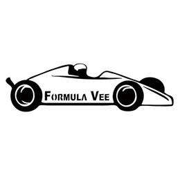 Wholesale vinyl wording decals racing - Wholesale Vinyl Decal Car Body Styling Glass Stickers Scratches Waterproof Wall Bumper Accessories Jdm FORMULA VEE Racing