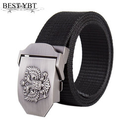 Cintura russa online-Best YBT Cintura unisex Russian National Emblem Nylon Lega liscia fibbia Cintura uomo sport outdoor uomo e donna casual