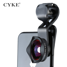 Wholesale camera lens wholesale - CYKE HD 2in1 Wide Angle 15X Macro lenses Universal Mobile Phone Lens kit Clip for Iphone 8 for Samsung Cell Phone camera lente