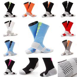 Wholesale Nylon Gym Shorts - Wholesale Women Men Antiskid Basketball Socks Compression Socks 10 Styles Sports Socks Middle Short Tube Free DHL G465Q