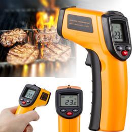 Canada NOUVEAU sans contact température pistolet temp mètre numérique laser infrarouge infrarouge thermomètre avec boîte de détail de haute qualité Offre