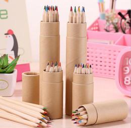 2019 lápis de cor Colorido Cor de chumbo desenho lápis de madeira Lápis De Cor Conjuntos de 12 cor crianças lápis de desenho colorido presente das crianças lápis de cor barato