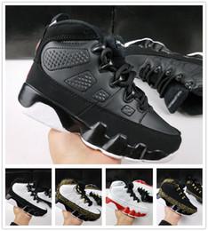 2019 zapatos de baloncesto de chicas baratas nike air jordan aj9 Free Shipping Cheap Kids 9s LA Zapatos de baloncesto Los niños Atlético 9 Zapatos Niños Niñas 9s OG Negro Zapatos de baloncesto rebajas zapatos de baloncesto de chicas baratas