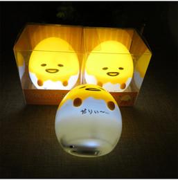Wholesale Tables Party Children - Anime Gudetama Egg Light Up Children Toy Lazy Egg Yolk Gudetama Sleep LED Night Light Cute Decorate Table Lamp