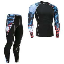 Мужские подростковые футболки онлайн-men's clothing  MMA compression suit tracksuit warm underwear base layer 3D printed teen wolf head T-Shirt crossfit Shirts
