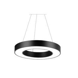 Precios de iluminación de oficina online-Círculo redondo Suspensión Hanglamp 38W 50W 56W 63W 76W Oficina Iluminación colgante para centro comercial precio de fábrica