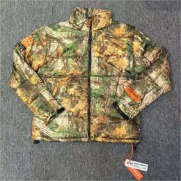 Wholesale Purple Padded Jacket - Heron Preston Jackets Streetwear Thick Warm Heron Preston Cotton-Padded Jacket Fallen Leaves Camouflage Jackets