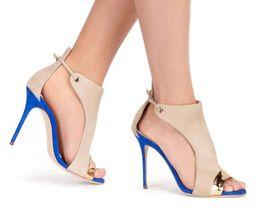 Argentina 2018 imitación cuero flock tacón sandalias de mujer color mezclado peep toe zapatos de gran tamaño zapatos de mujer cheap toe covering sandals Suministro
